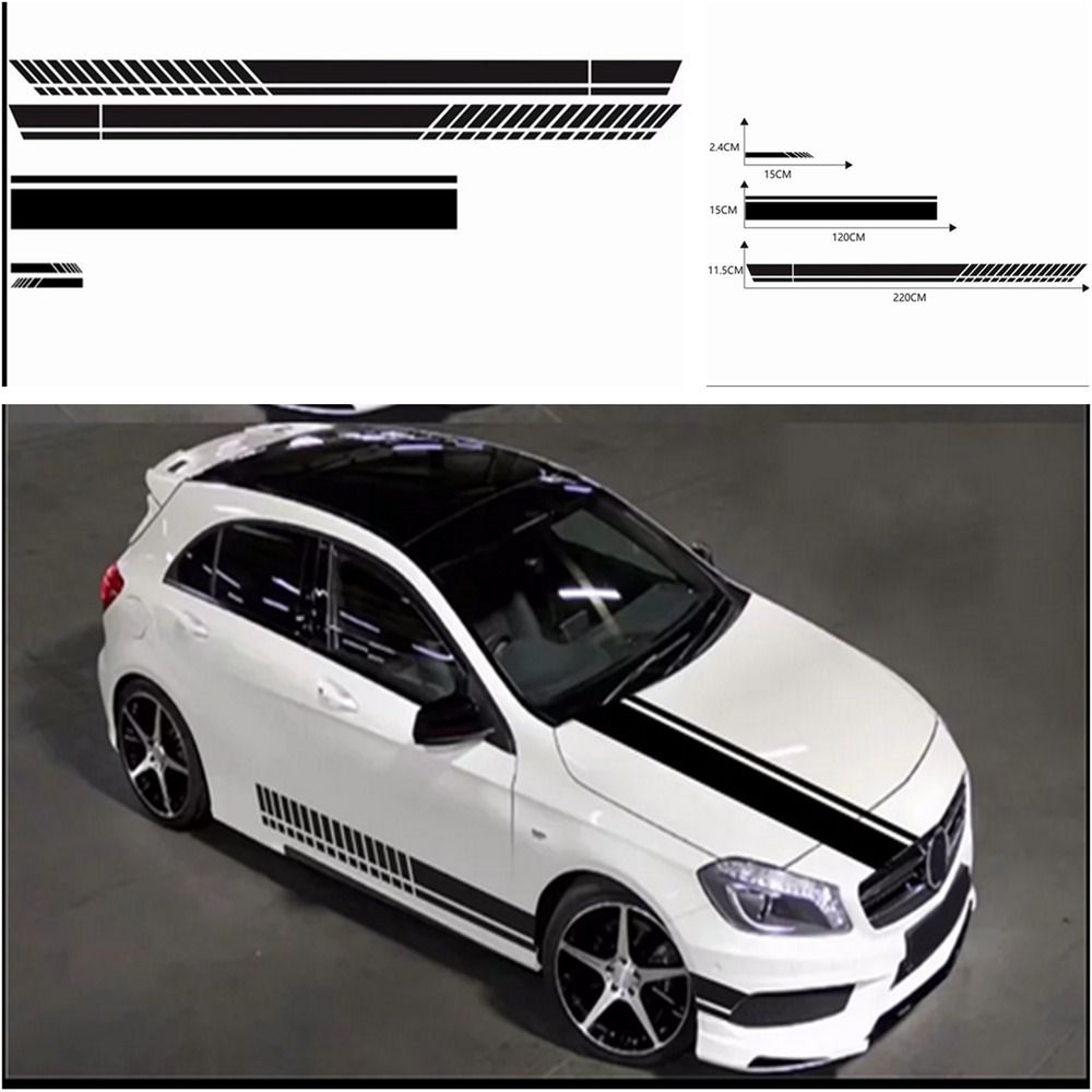 Sponsored Ebay Black Pvc Racing Stripe Sticker Car Rearview Mirror Side Skirt Sill Vinyl Decal Racing Stripes Car Car Rear View Mirror [ 1000 x 1000 Pixel ]