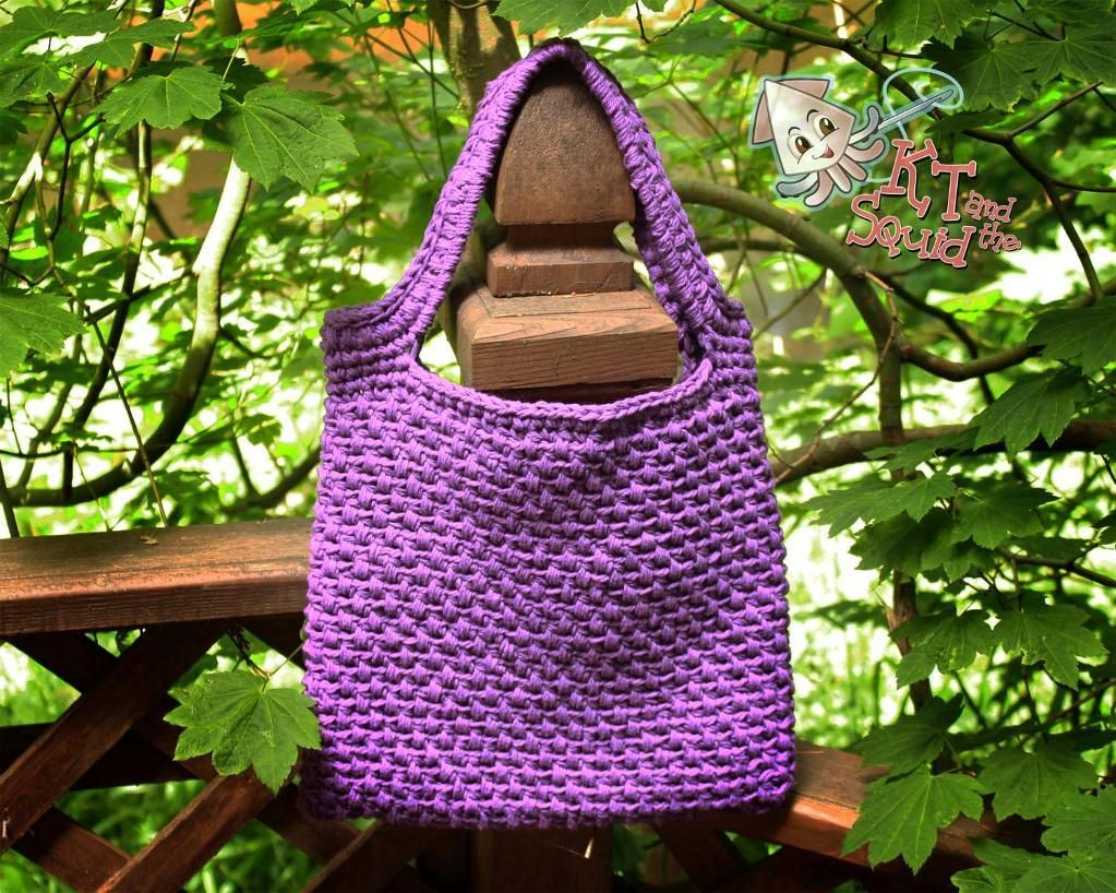 KT's Picnic Tote by ktandthesquid | Crocheting Pattern - Looking for your next project? You're going to love KT's Picnic Tote by designer ktandthesquid. - via @Craftsy