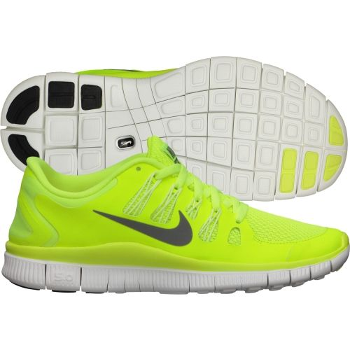 Nike Womens Free 5.0+ Running Shoes Volt White 580591 701