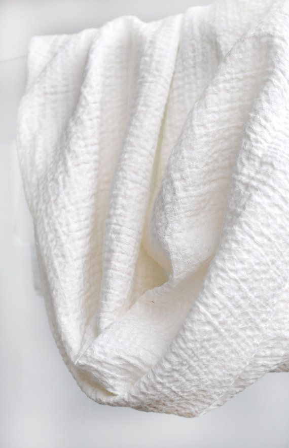 100 Pure Linen Washed Waffle Fabric White Excellent Quality Very Soft Perfect For Towels Clothing Bathrobes Baby Bedding Pure Linen Fabric Linen Fabric
