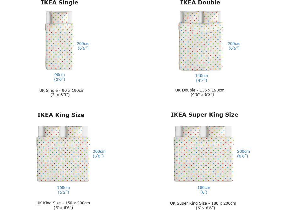 Ikea Bed Mattress Size Chart Normal Measurement Difference Mattress Size Chart Mattress Sizes Bed Mattress Sizes