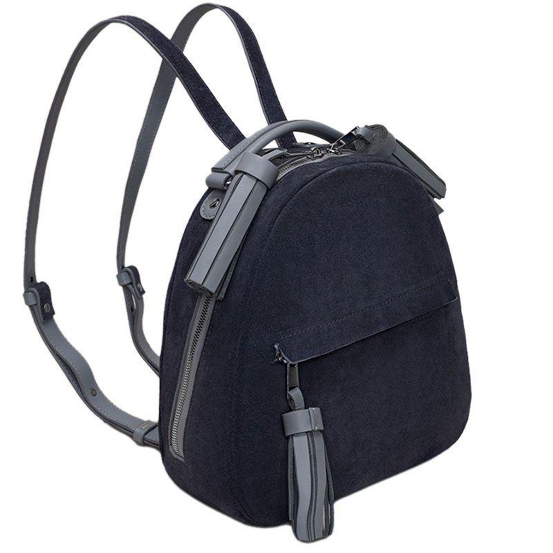 d3351a4329e3 Женский городской рюкзак Fidelitti Zaino из натуральной кожи и замша серого…
