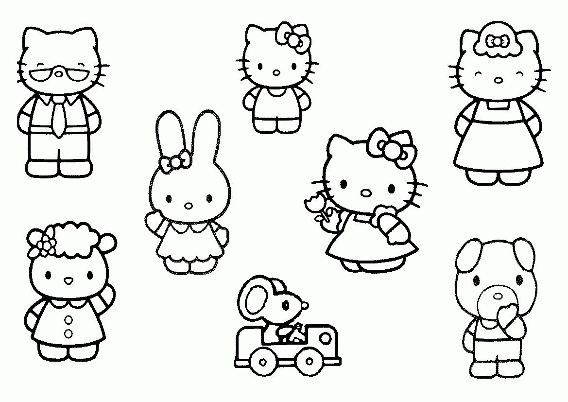 Hello Kitty Friends Coloring Pages Coloring Pages Allow Kids To Accompany Their Favorite Cha Hello Kitty Colouring Pages Hello Kitty Coloring Kitty Coloring