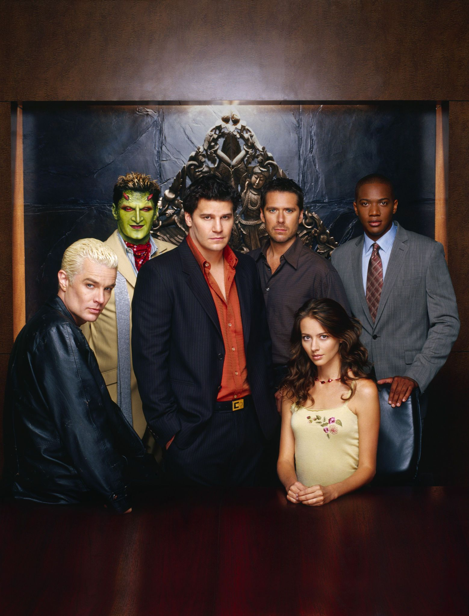 angel s5 cast david boreanaz angel james marsters spike amy wyndam pryce alexis denisof charles gunn j richards winifred fred burkle illyria amy acker lorne andy hallet spike james marsters