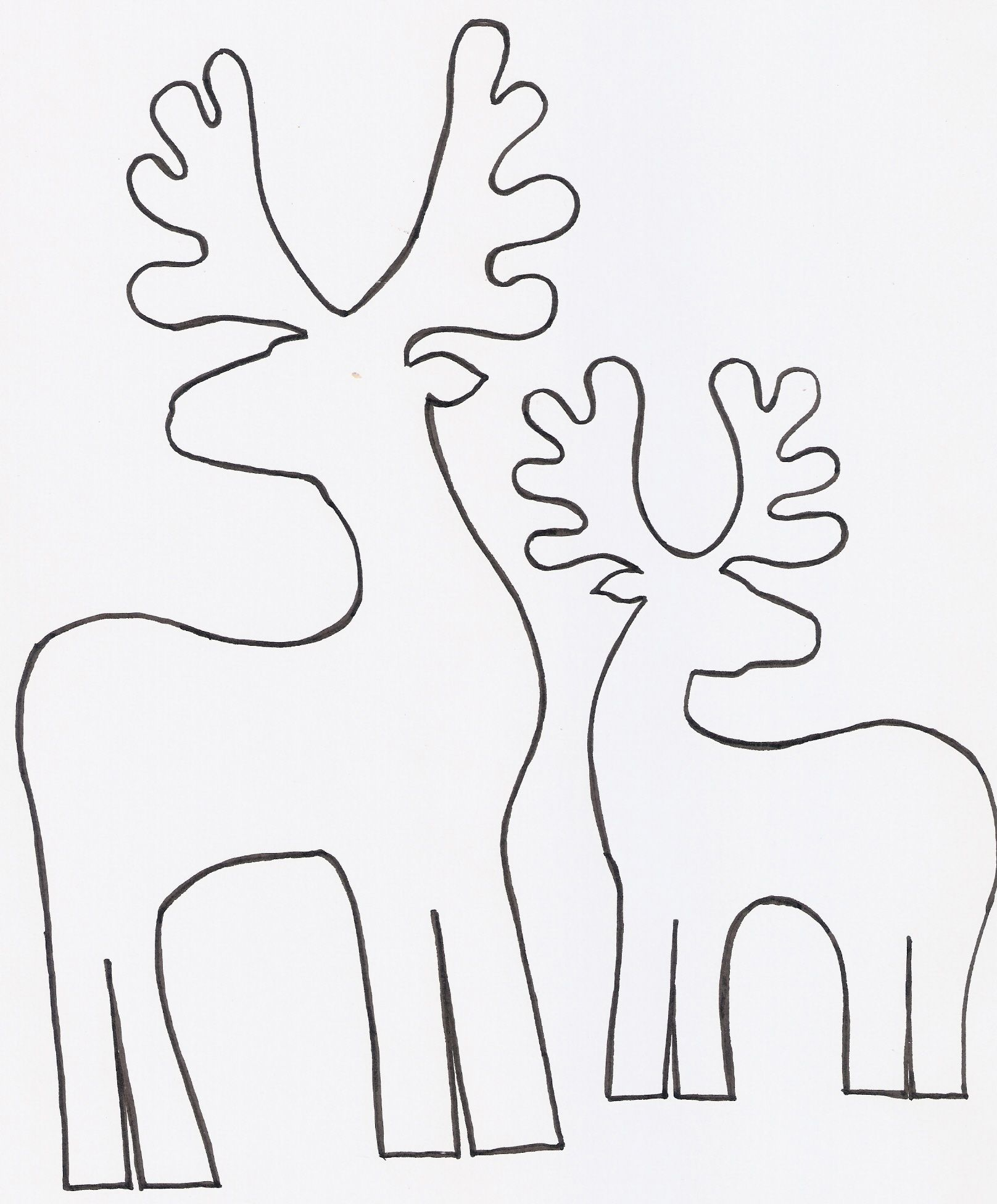 Renos en madera para decorar | Pinterest | Madera, Navidad y Buscar ...