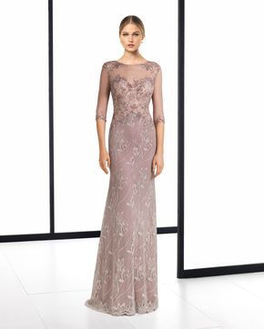 Coleccion de vestidos de fiesta de rosa clara