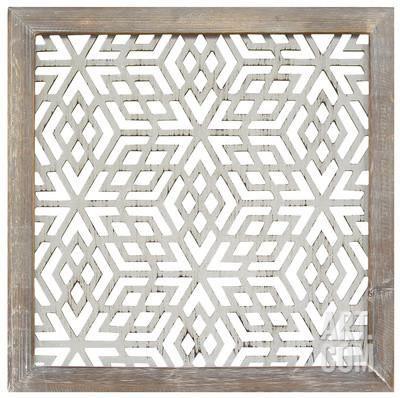 Framed Laser-Cut Panel - Gray Home Accessories at Art.com