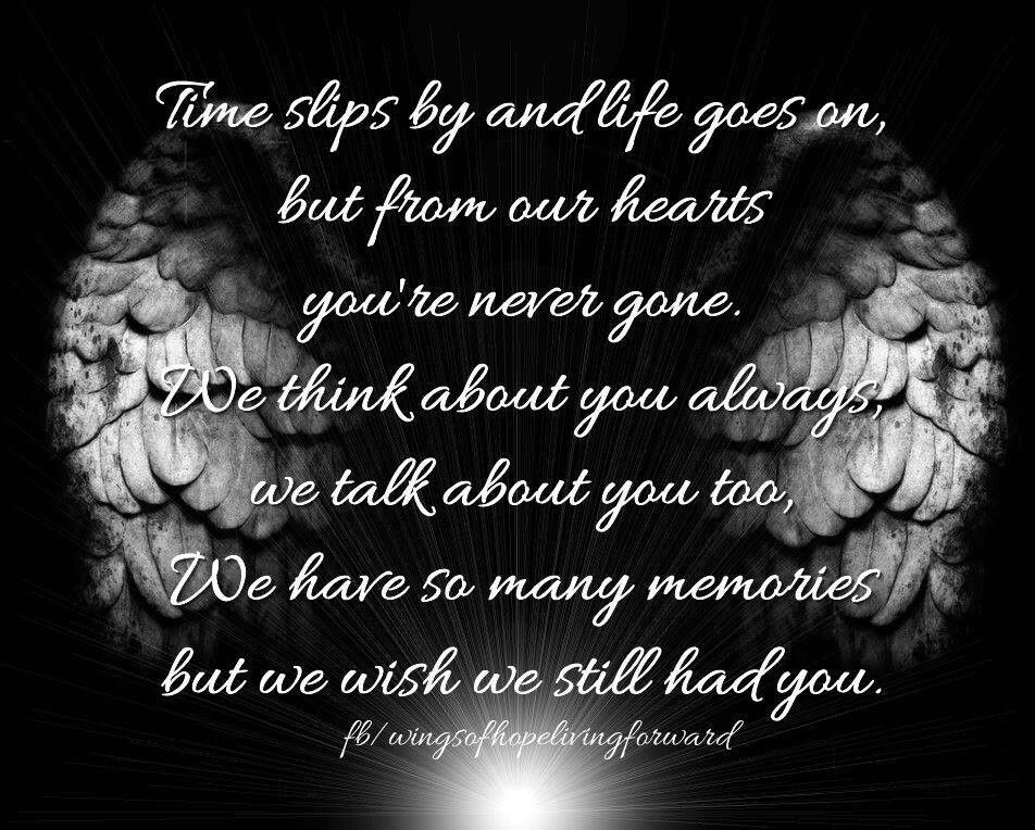 SANDI ♥ We love and miss you so much. Heaven quotes