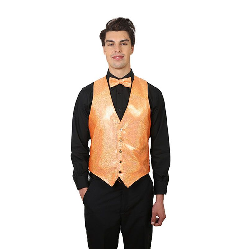 Orange Sparkling Bow Tie