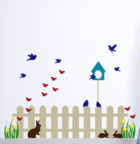 Kids Decor Wall Decals Picket Fence