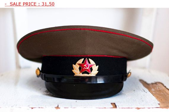 Soviet Hat Russian Hat army Cap officer s cap- military hat ... 950517a4bf25
