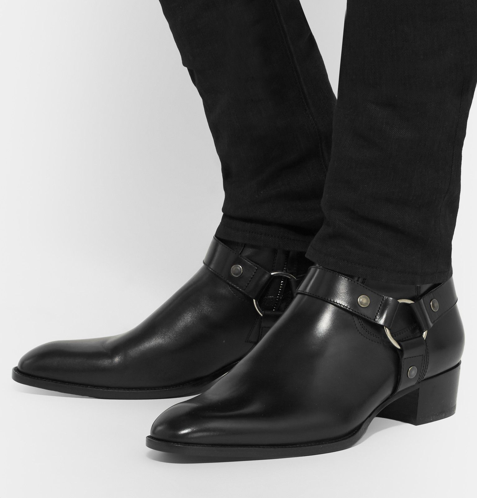 327917fe65 Saint Laurent - Leather Harness Boots - Preacher Styles Botas, Zapatos,  Consejos De Moda