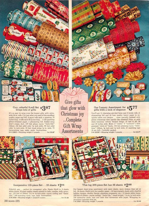Christmas wrapping paper advertisement, 1962.