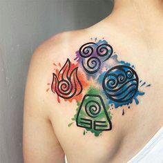 the four elements tatt atla more tattoo pinterest tatt tattoo and tatting. Black Bedroom Furniture Sets. Home Design Ideas