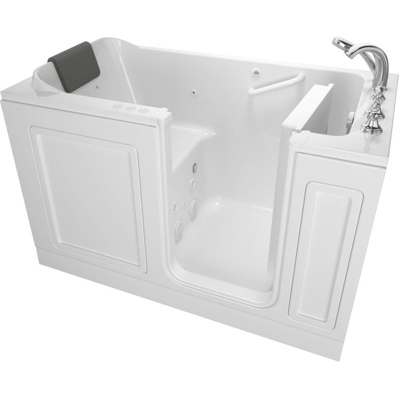 American Standard 3260 219 Cr Luxury 59 1 2 Walk In Whirlpool Air Bathtub Wit White Walk In Tub Air Whirlpool Alcove Walk In Tubs Drain Pump Bathtub