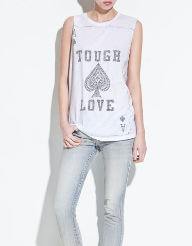 PLAYING CARDS T-SHIRT - T-shirts - TRF - ZARA United States