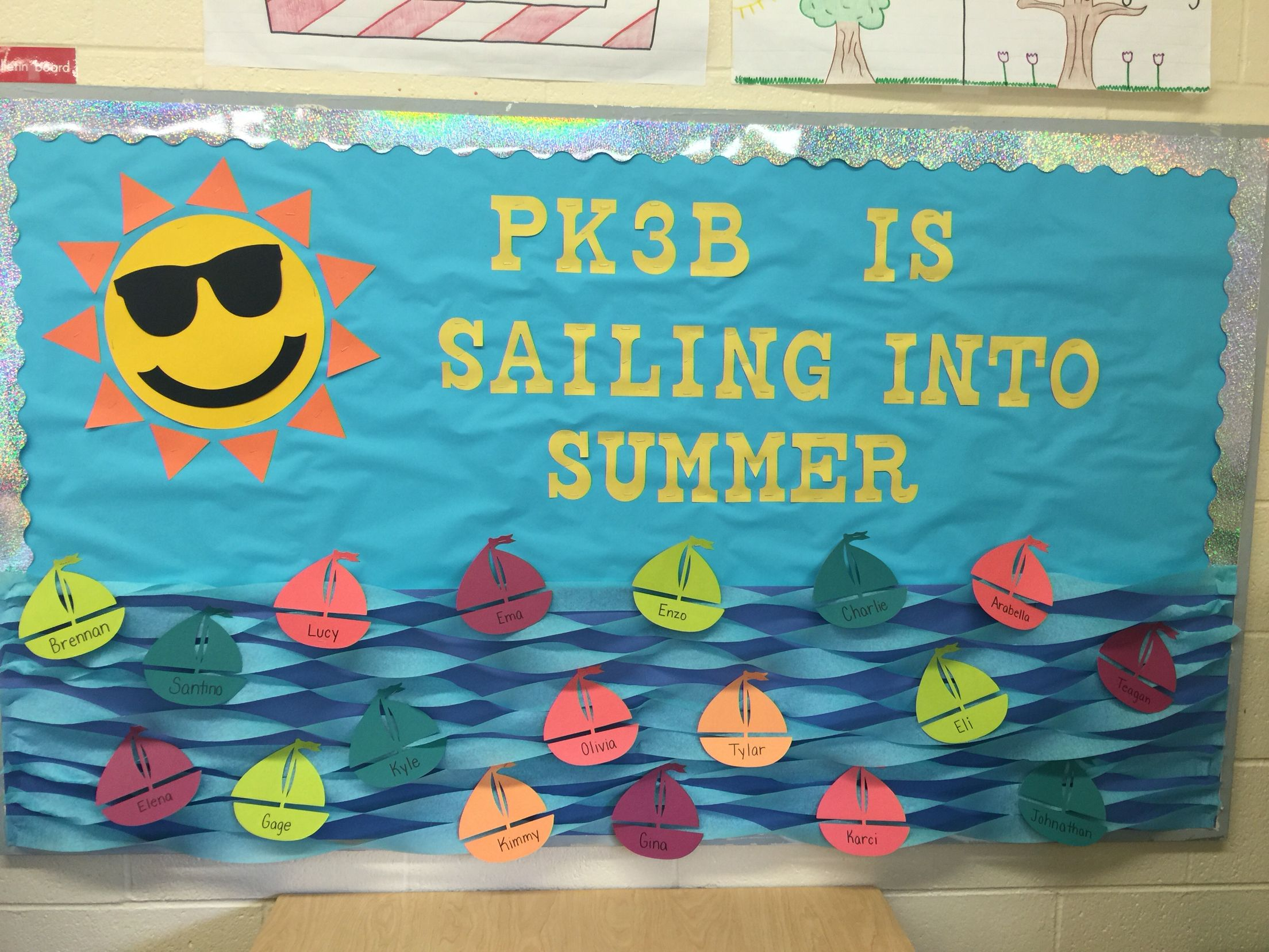 June Classroom Ideas ~ Sailing into summer bulletin board may june miss