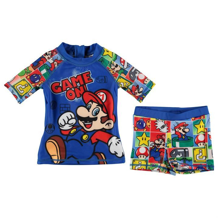 0f45efed03136 Boys Nintendo Super Mario UV Swim Set | Logan | Swim sets, Baby ...