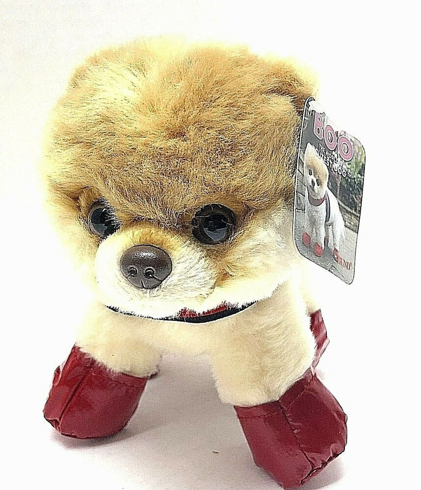 Gund 4050489 The Worlds Cutest Dog Itty Bitty Boo Rain Boots and Harness Toy