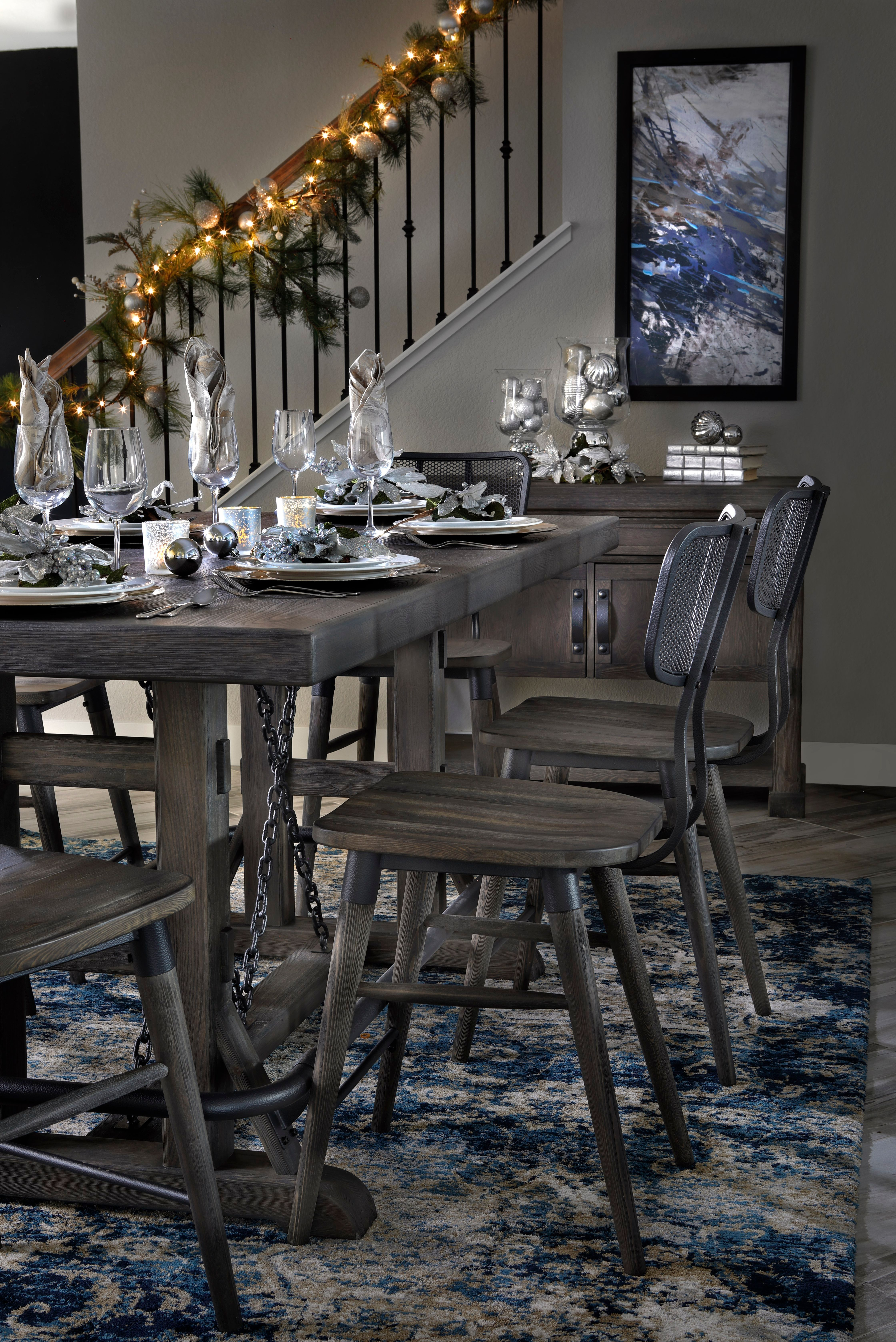 Whiskey River 5 Pc Set With Backed Barstool Dining Table Rowe Furniture High Back Dining Chairs