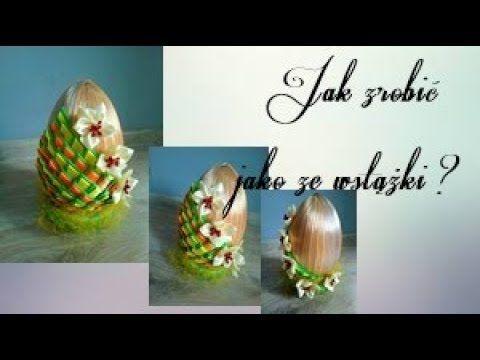 Jak Zrobic Jajko Metoda Kanzashi Ze Wstazki Satynowej Trojkatne Platki Youtube Kanzashi Flower Making Paper Flowers