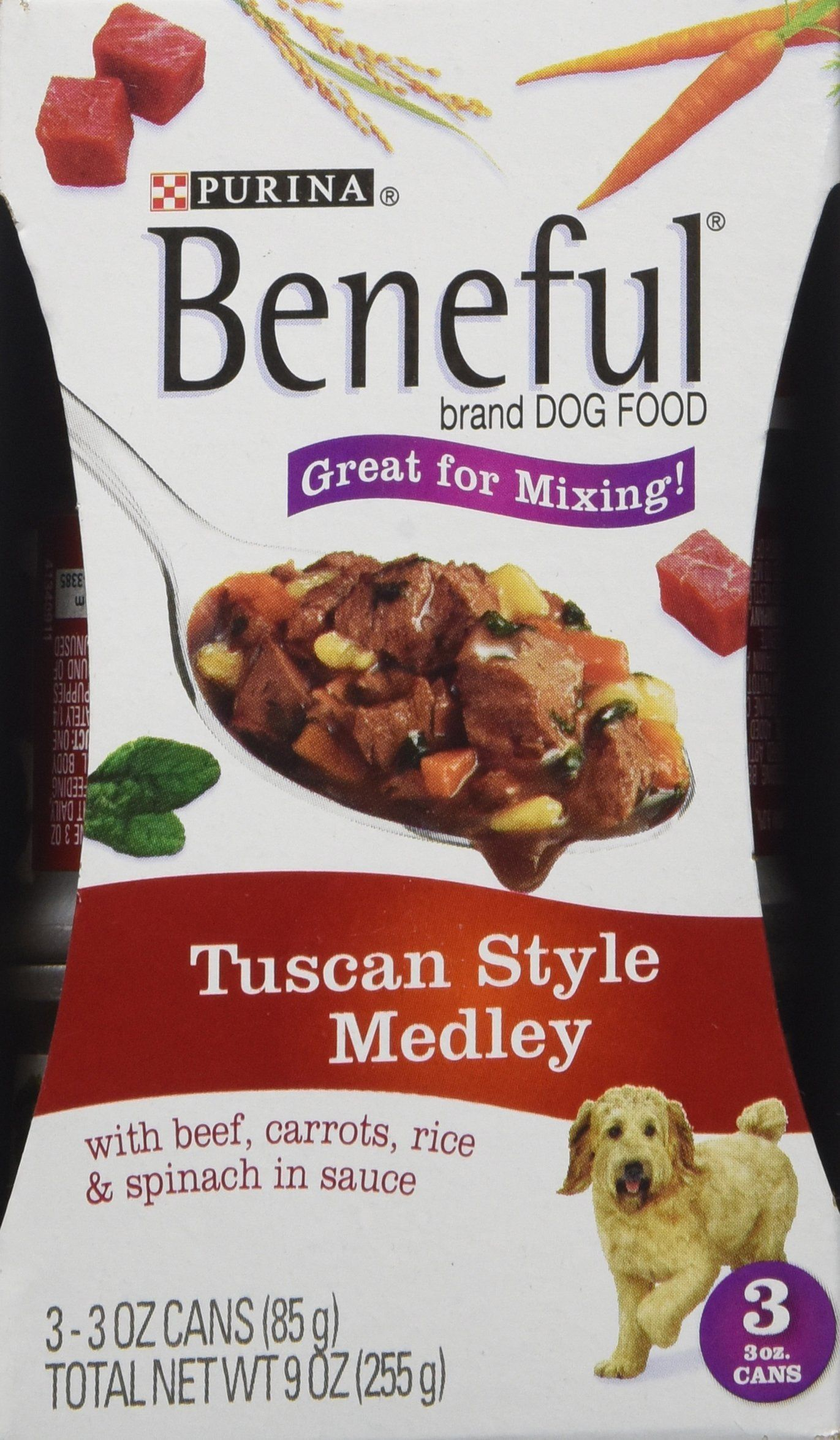 Purina Beneful Tuscan Style Medley Canned Dog Food 8 Pack 24 3 Oz