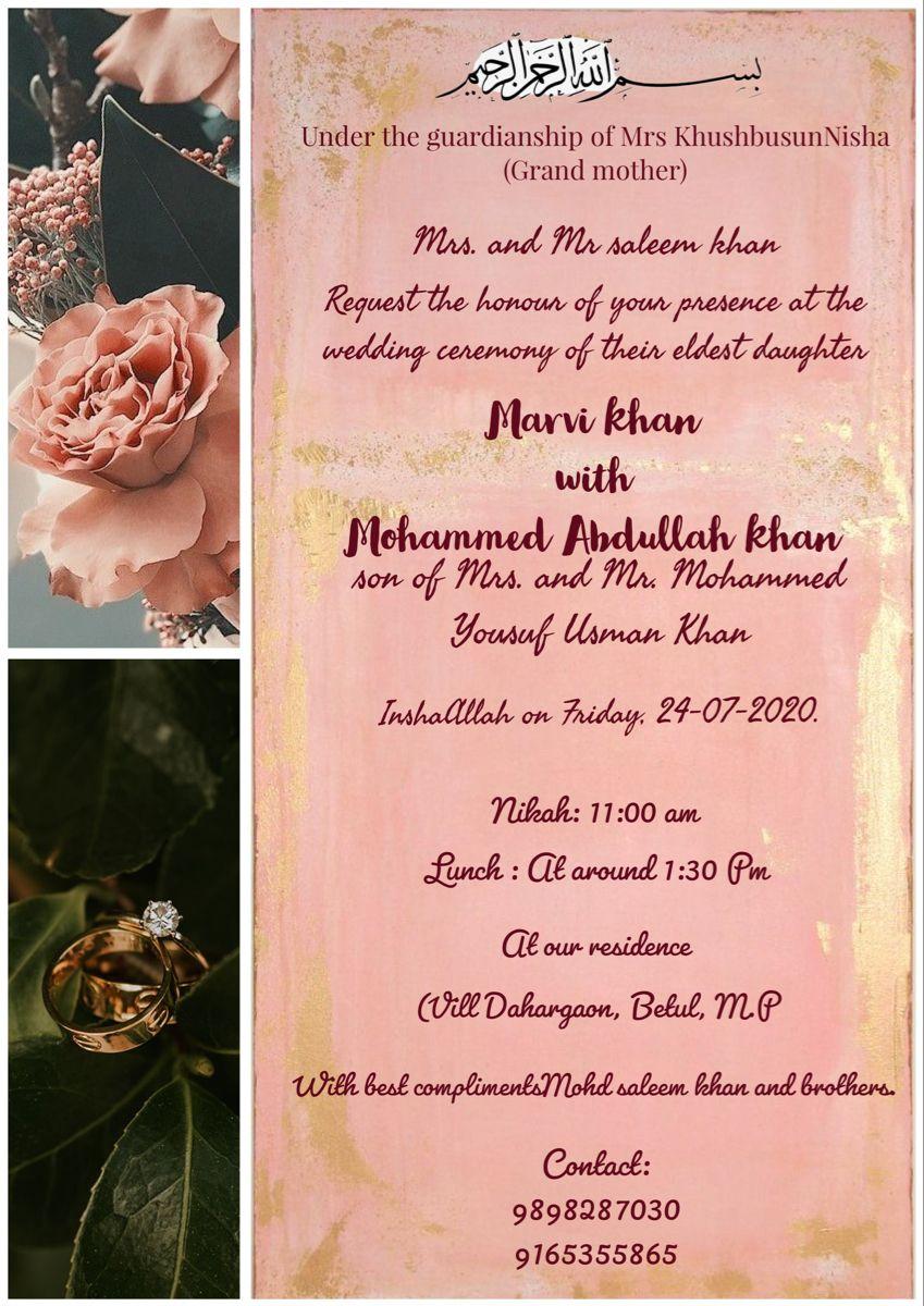 #weddingcard #muslimwedding #invitations #invitationcards