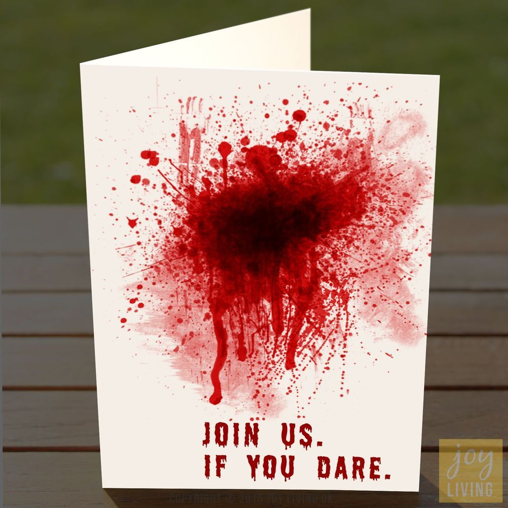 Halloween Party Invites – Blood Splatter – Adult / Teen ...