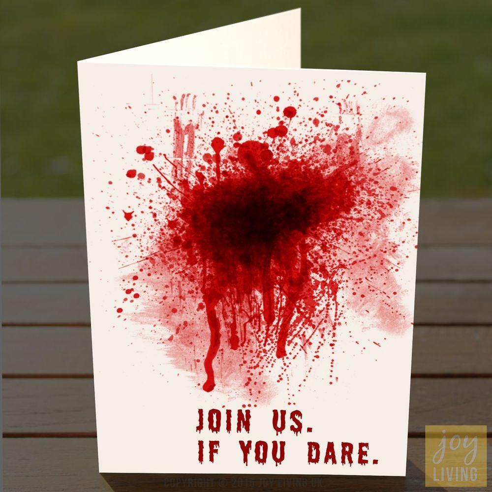 Halloween Party Invites – Blood Splatter – Adult / Teen ...
