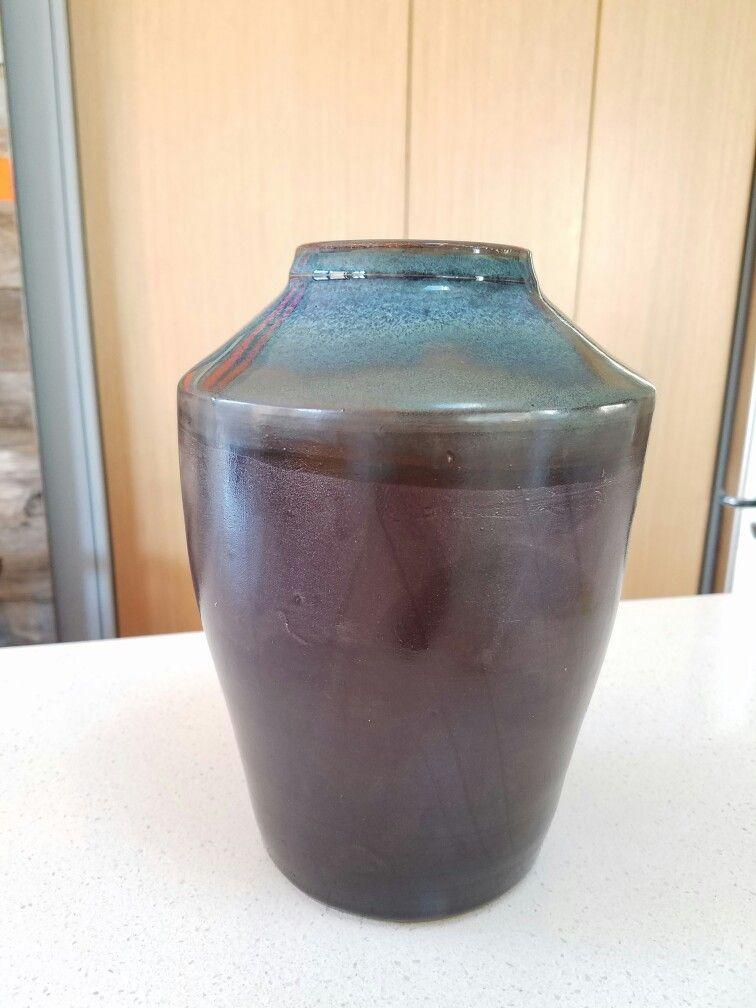 Liz's beautiful vase. Floating blue and black