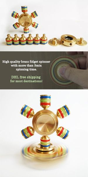 High quality brass fidget spinner with more than 3min spinning time. Unique design to make you distinguished. Free DHL free shipping for most destinations!