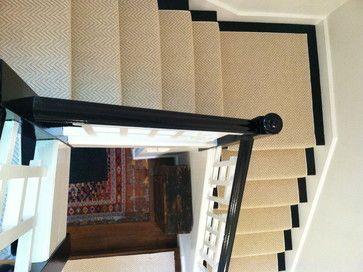 Stair Runner Install Boston, Ma - contemporary - staircase - boston - The Carpet Workroom and Reclamation Center, Inc.