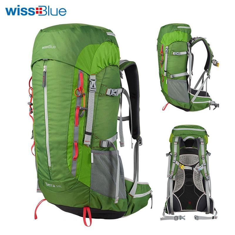 d897cecdf4 WissBlue Professional Climbing Backpack Camping Outdoor Backpack CR  Carrying System Hiking Gear Trekking Travel Sport Backpack