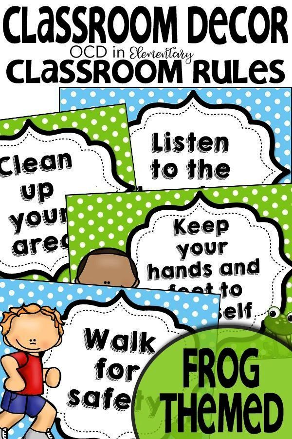 Themed Classroom Rules These frog classroom rules are a great addition to your frog themed classroo