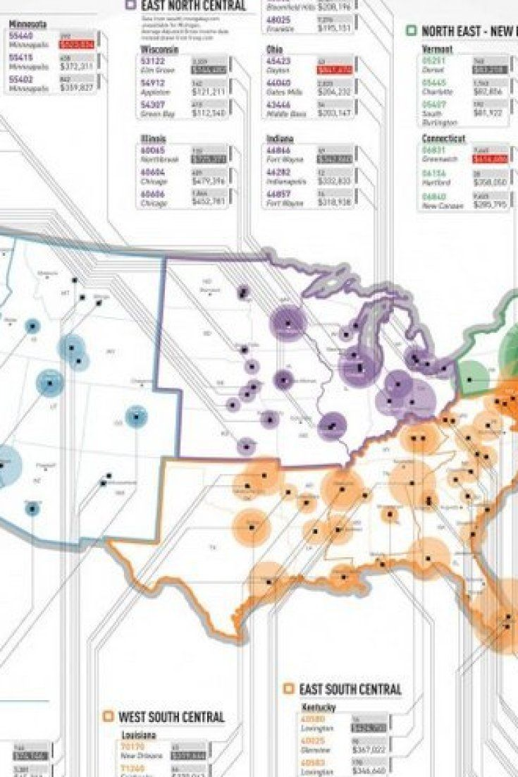 The Wealthiest Zip Codes In America In One Simple Map Map