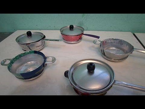 Juego de cocina con latas de gaseosas   pava y sartÉn   youtube ...