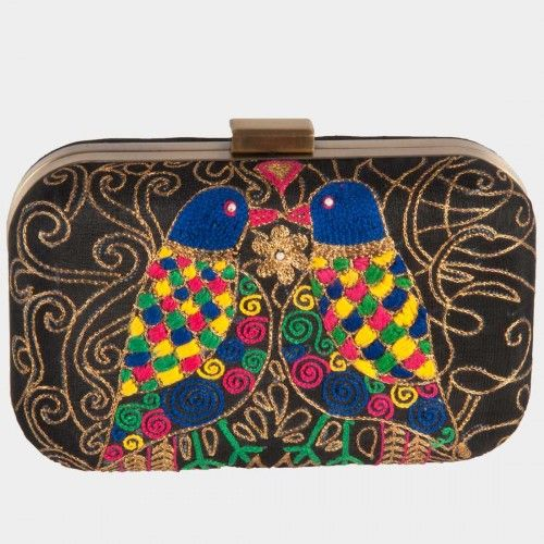 Embellished Bird Motif Clutch. #India #Indian #designer #clutches ...