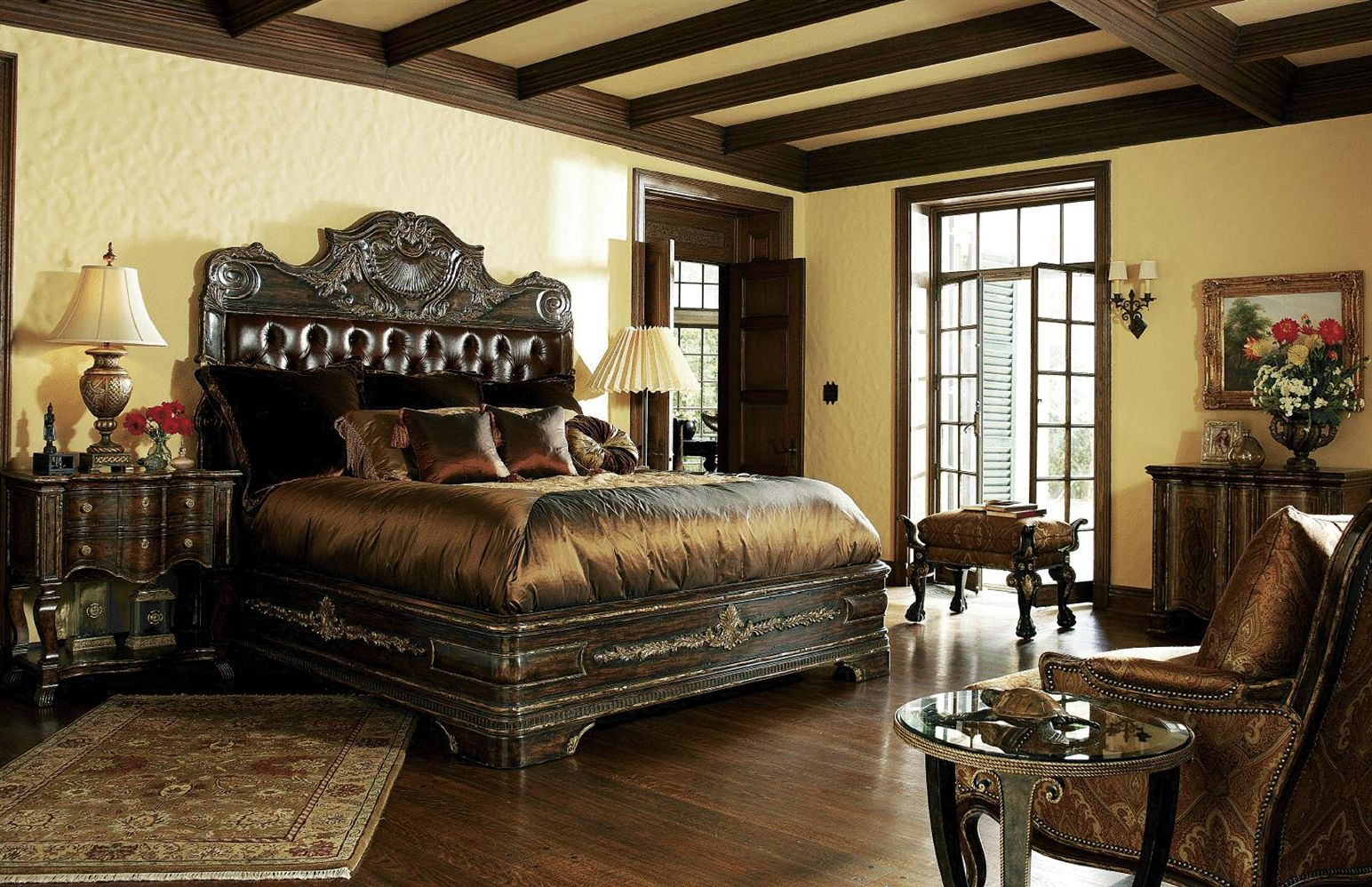 Best Bedroom Antique Master Bedroom With Carving Headboard Idea 400 x 300