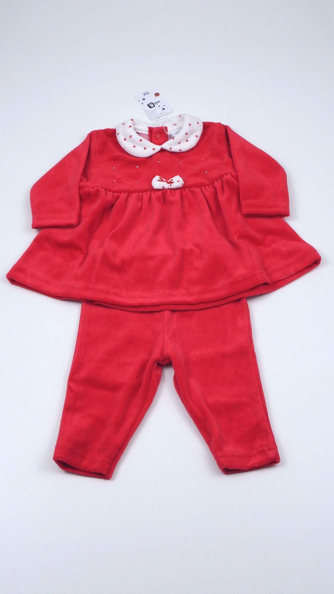 Abito neonata Will B, completo due pezzi, vestito aperto dietro con ...