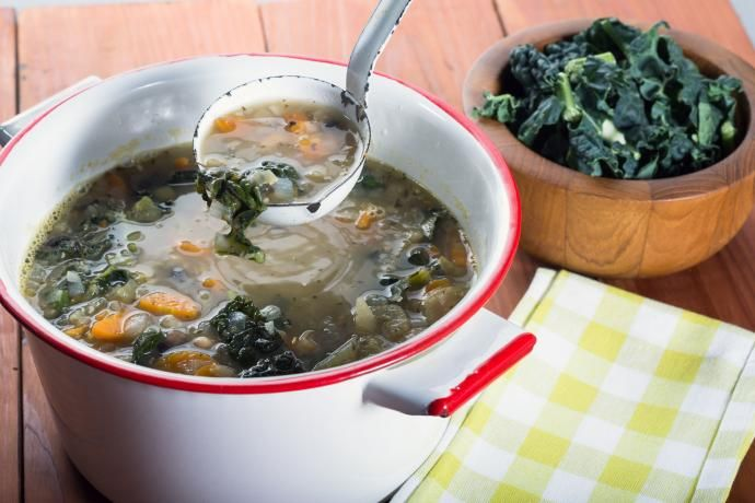 No two households, or restaurants, make their kale soup quite the same way. (Photo: Victor Bouchard)