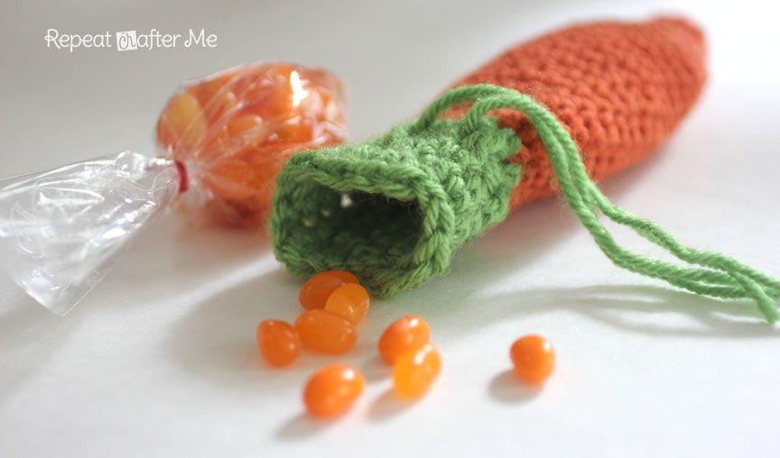 Crochet Carrot Pouch Pattern   crochet fun   Easter ...