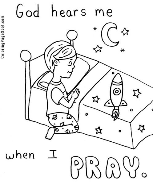 Children Praying Coloring Pages