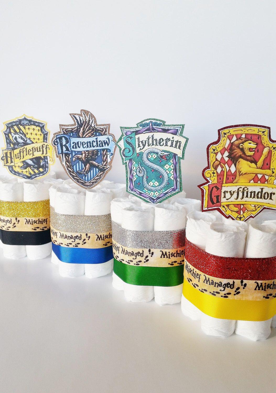 Harry Potter Baby Shower Diaper Cake Centerpieces, Harry Potter Diaper  Cakes, Welcome Muggle Shower
