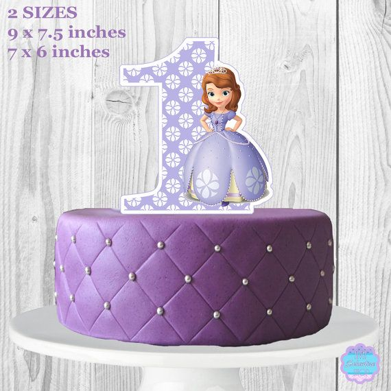 Amazing Sofia The First Cake Topper Centerpiece Printable Sofia The Personalised Birthday Cards Cominlily Jamesorg