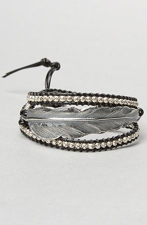 The Silver Feather Rope Beaded Bracelet By M Cohen