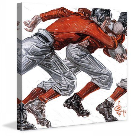 Marmont Hill Football Players by J.C. Leyendecker Painting Print on Canvas, Size: 18 inch x 18 inch, Multicolor