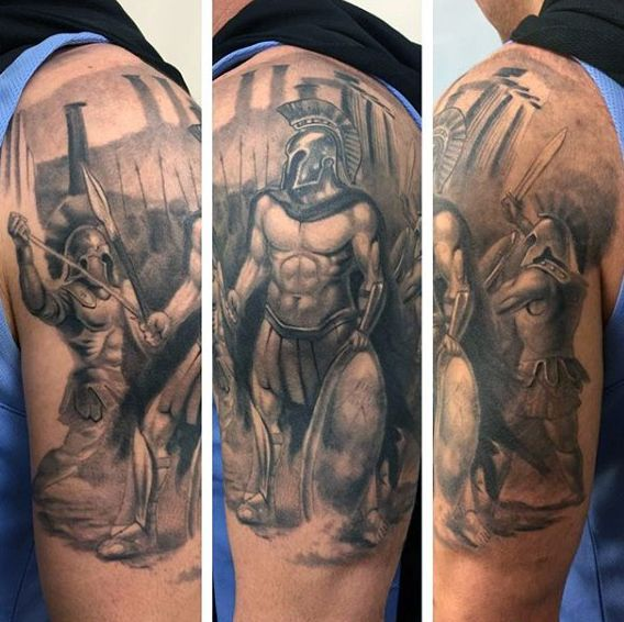 Greek Mythology Tattoo For Men Half Sleeve Traditional Tattoo