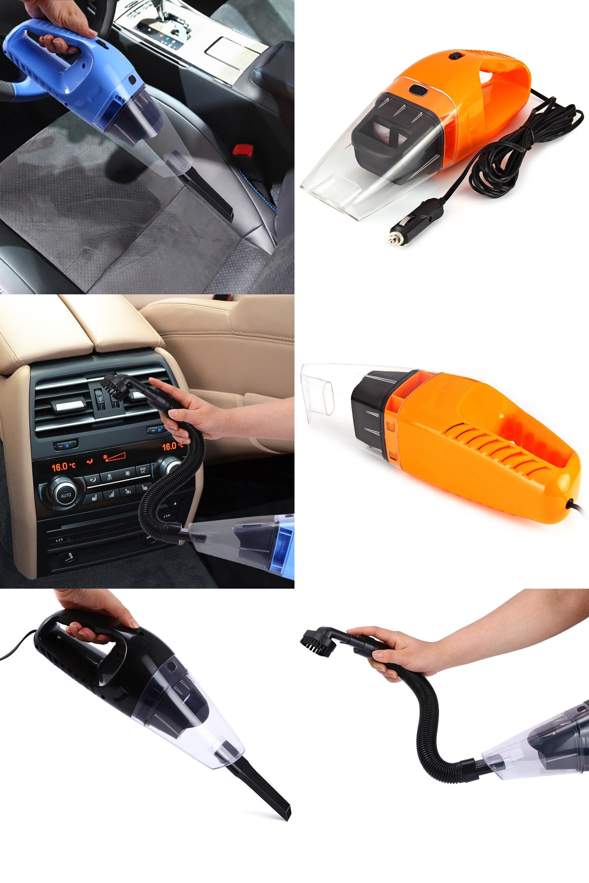 Visit To Buy Portable Plug In 120 W 12 V Car Vacuum Cleaner Handheld Wet Dry Dual Use Dust Cleaner With 5 M Wir Car Vacuum Cleaning Dust