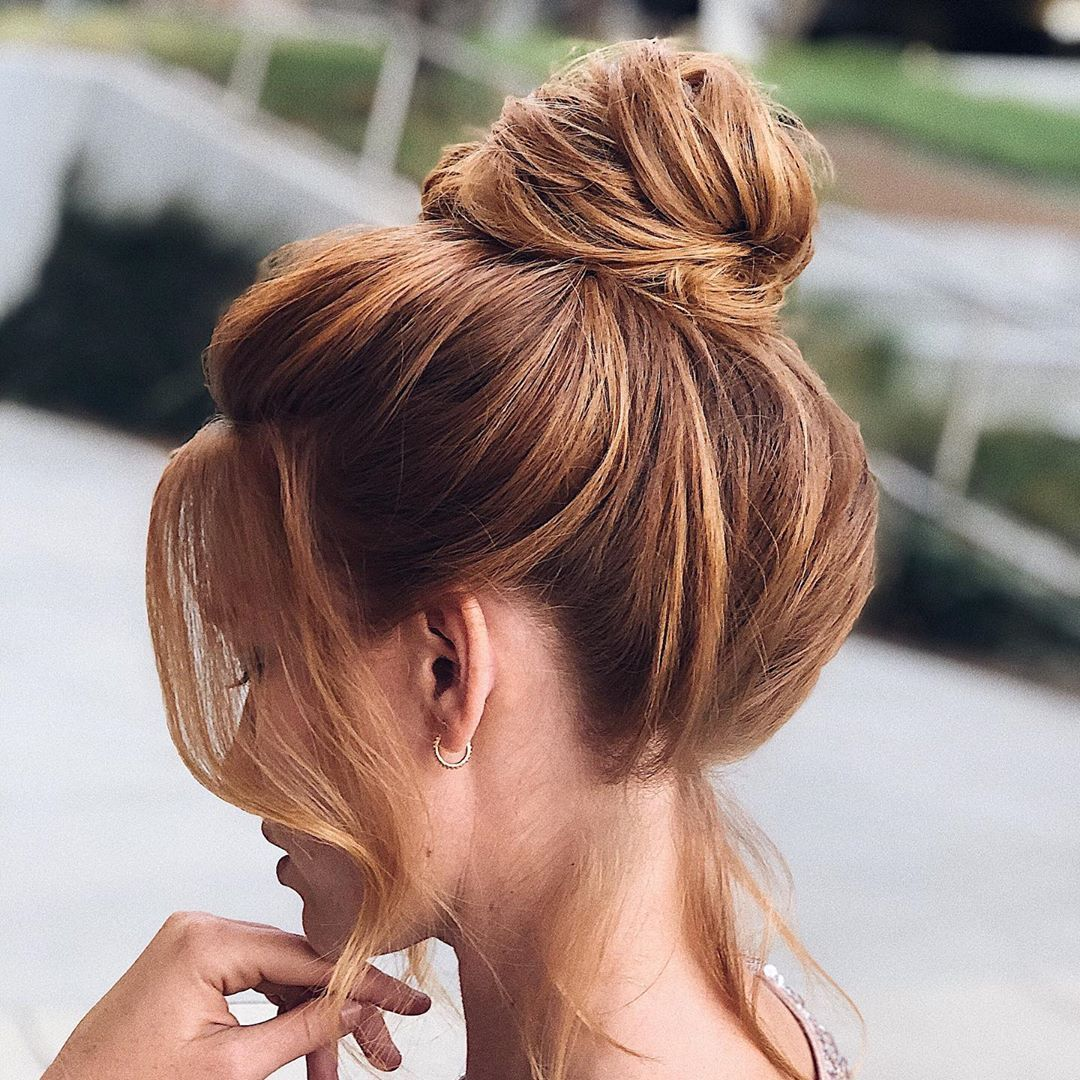"""Stephanie Brinkerhoff on Instagram: """"Five minute messy top knot tutorial now on @kenraprofessional's YouTube page! Head to their IG for the link. #hairandmakeupbysteph…"""""""