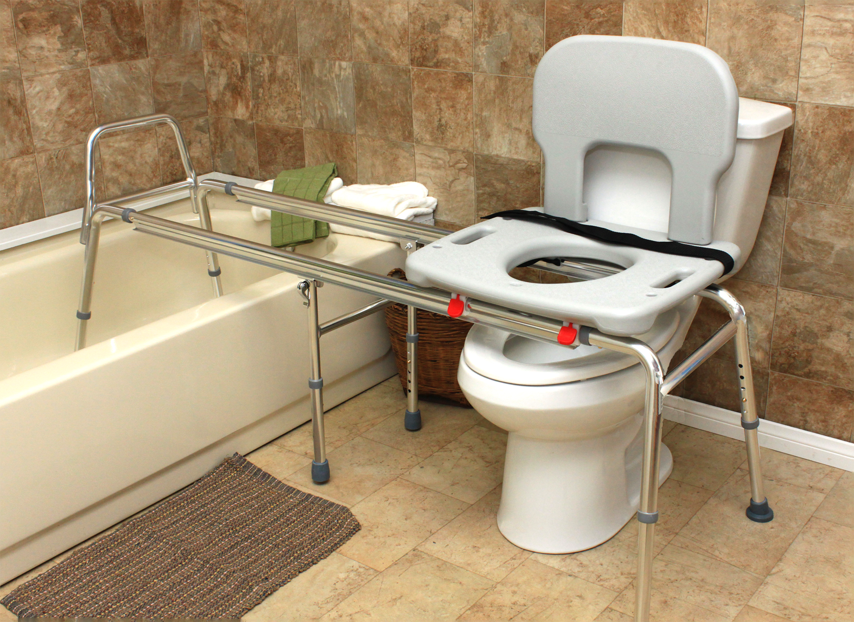Toilet-to-Tub Sliding Transfer Bench (77993) - XX Long (Base Length ...